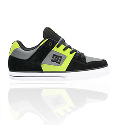 DC Black and Lime Battleship Shoe