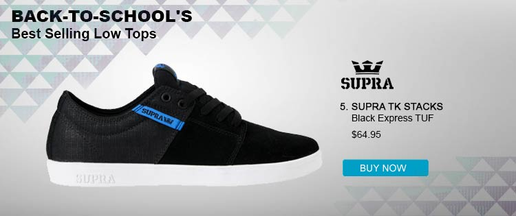 Supra TK Stacks Black &amp; Blue Skate Shoe