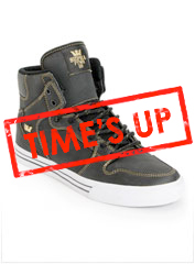 Supra Vaider TUF Black & Gold Shoe