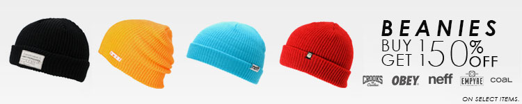 Beanies Buy 1, Get 1 50% Off