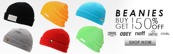 Beanies Buy 1 Get 1 50% Off