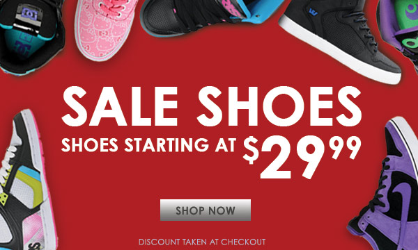 Shoe Sale Starting at $29.99