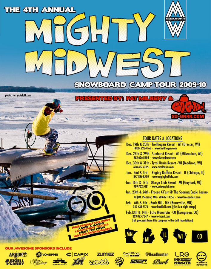 Mighty Midwest Snowboard Camp Tour