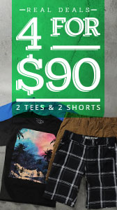 4 for $90 - Shorts & Tees