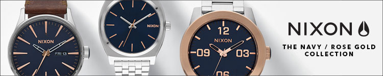 Nixon Navy and Rose Gold Collection