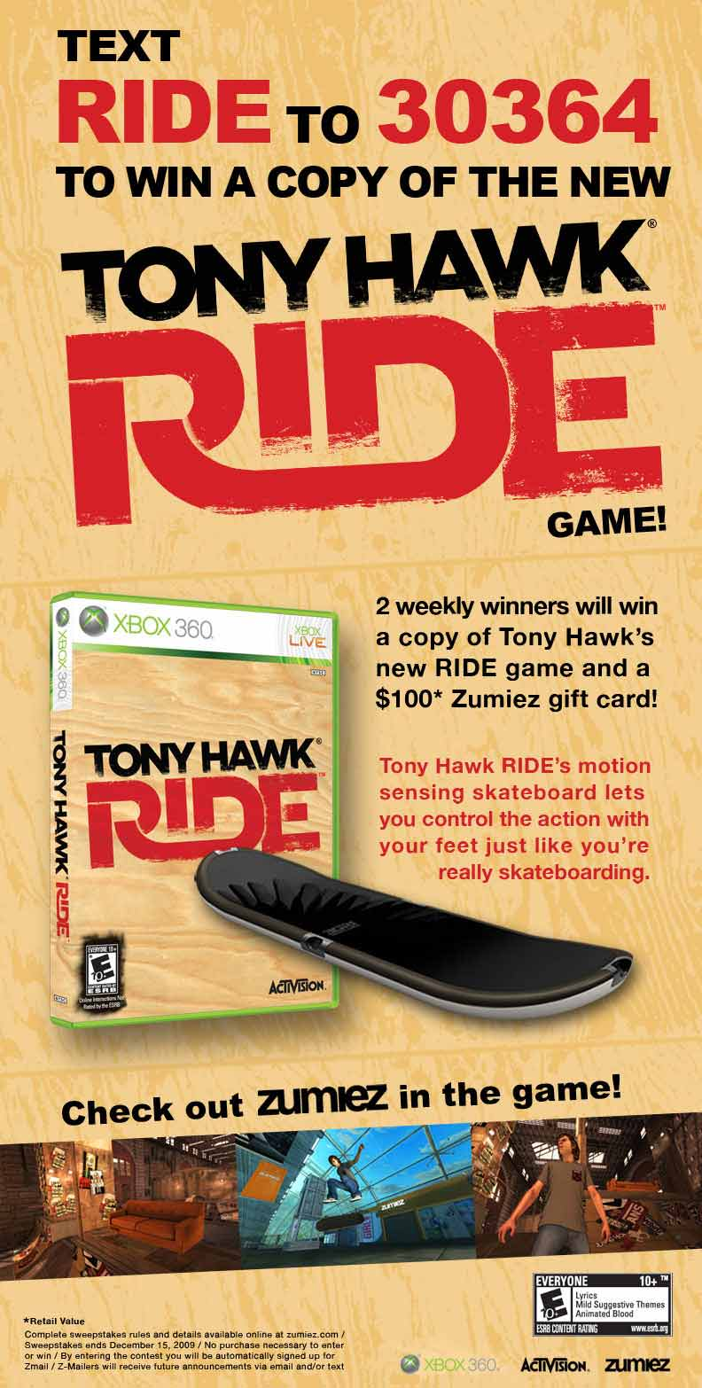 Tony Hawk Ride Game