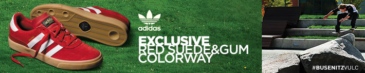 Zumiez Exclusive Red & Gum adidas Busenitz