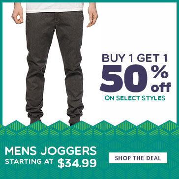 BOGO 50 on Mens Joggers