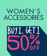 Shop All Women's Buy 1 Get 1 50% Off Accessories