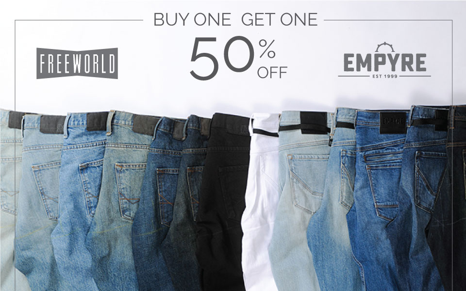 Denim - Buy One, Get One 50% Off