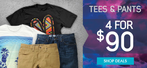 mens deals - 2 tees and 2 bottoms for $90