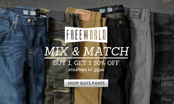 Guys Freeworld Pants