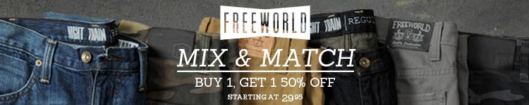 Free World Mix & Match Buy 1 Get 1 50% Off