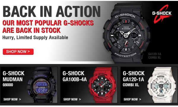 Our Most Popular G-Shocks Are Back In Stock - Shop Now