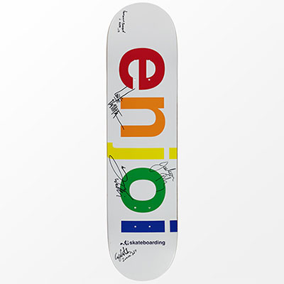 enjoi Spectrum White Team Signed Deck