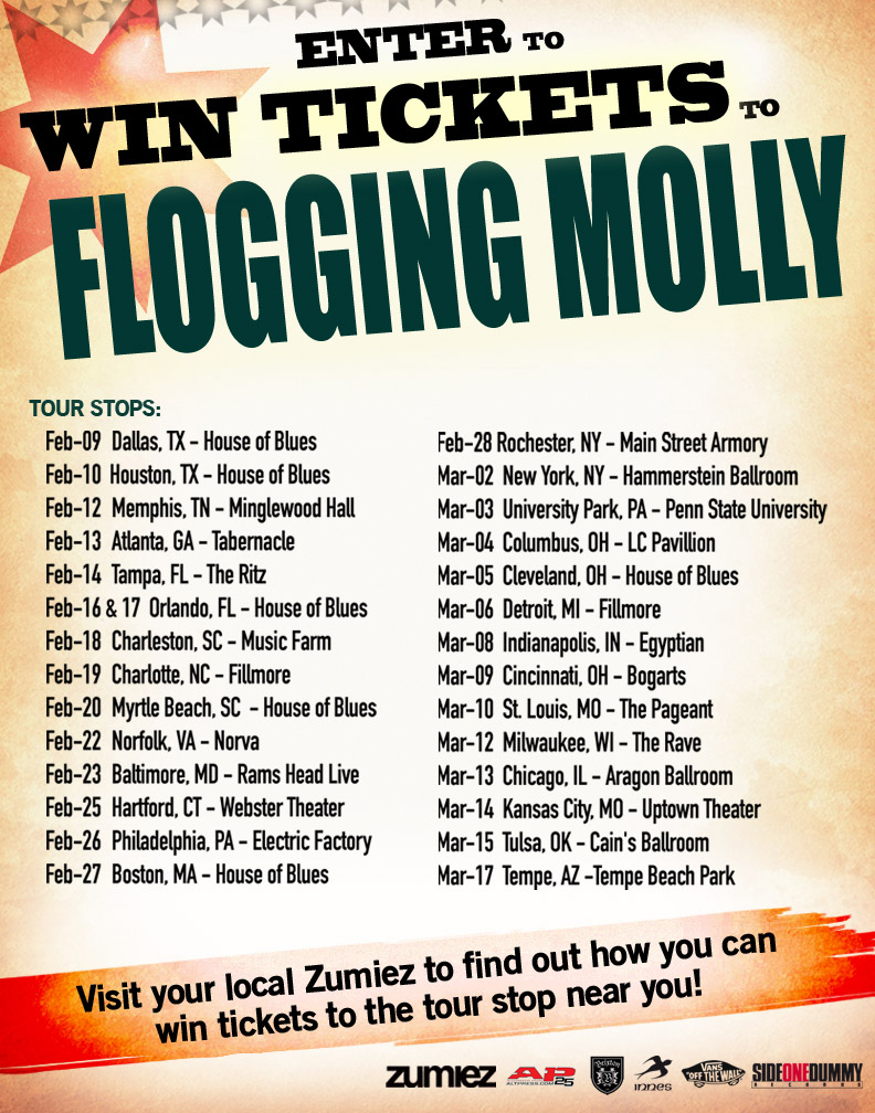Flogging Molly at Zumiez