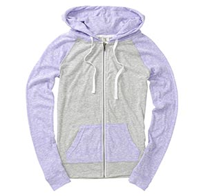 Pastel Purple/Grey Jersey Lightweight Zip Up