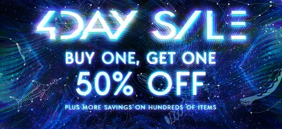 4-Day Sale. Buy One, Get One 50% Off. Plus More Savings on Hundreds Of Items