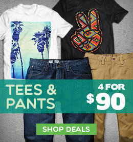 Mens Tees - Pants 4 for $90