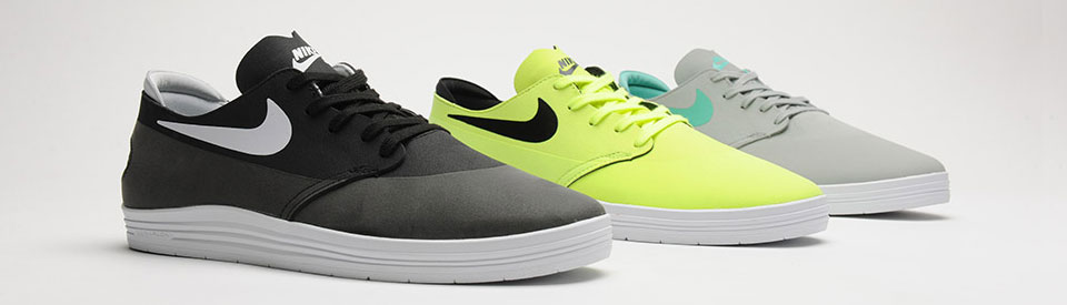 Nike Lunar One Shot - Black/White, Volt/Black and Base Grey/Crystal Mint