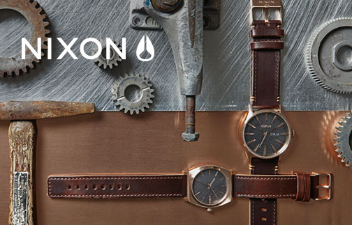 Nixon Rose Gun Burnished
