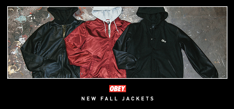 Obey Jackets mens