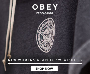 Womens Obey x Popaganda Graphic Sweatshirts