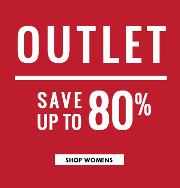 Outlet items are up to 80% off