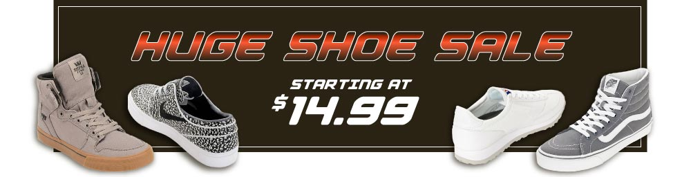 Huge Shoe Sale starting at $14.99