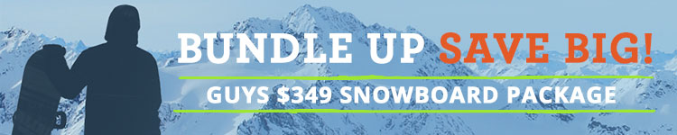 Men's $349 Snowboard Package