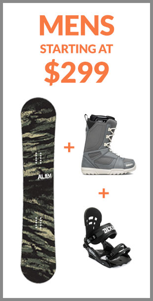 Mens Snowboard Packages
