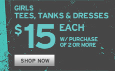 Girls Tees, Tanks and Dresses