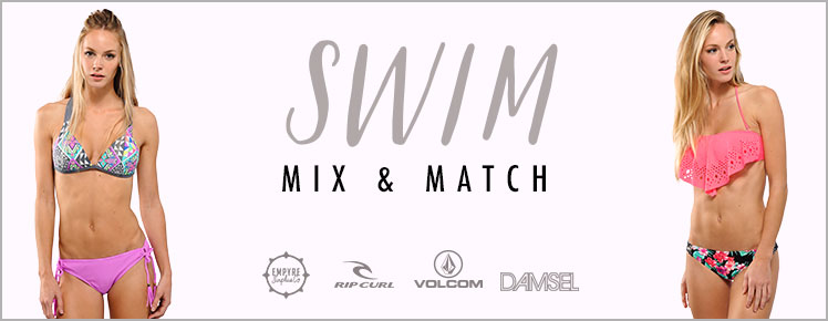 womens swim mix match