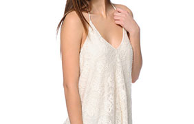 Love, Fire Cream Crochet Halter Tank Top