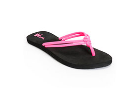 Volcom Women's Forever And Ever Neon Pink & Black Sandals