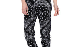 See You Monday Black Bandanna Print Jogger Pants