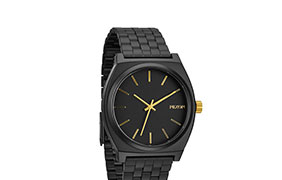 Nixon Time Teller Matte Black and Gold Analog Watch