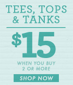 Women's Tops - $15 Each For 2 or More