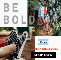 Toms Shoes - Womens Del Rey Sneakers -Be Bold