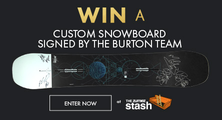 Win a Burton Team Signed Custom Snowboard