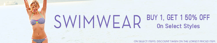 Sale Swimwear - Buy 1, Get 1 50% Off