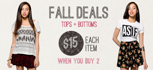 Womens Fall Back To School Deals
