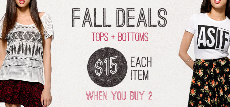 Womens fall deals