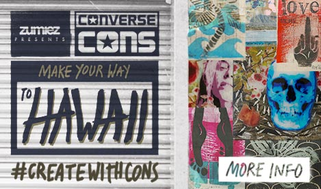 Zumiez Presents: Converse CONS. Make your way to Hawaii! #createwithcons