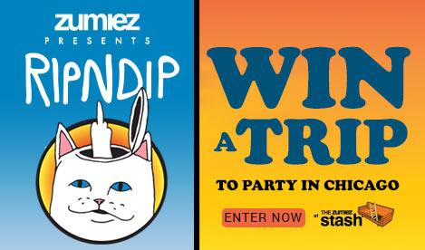 Zumiez Presents: RIPNDIP. Win a trip to party in Chicago. Enter now at The Zumiez Stash.