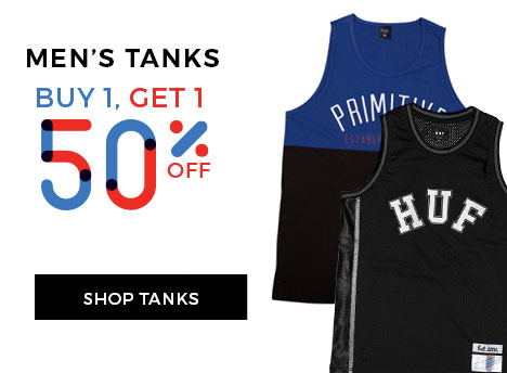 BOGO 50 on Men's Tanks