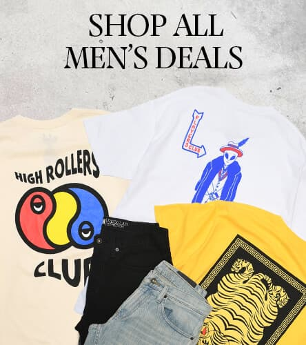 Mens Deals. 2 t-shirts and 2 bottoms for $90 and other deals