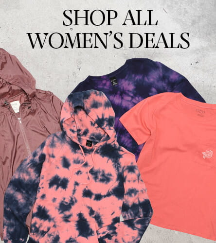 Shop women's clothing package deals where you can bundle and save big on tees and pants. Pick a combination of multiple tees, a couple of pants, pants and a t-shirt, or two pants and two tee shirts for a great deal.