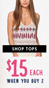 Shop Tops - $15 Each When You Buy 2 or More