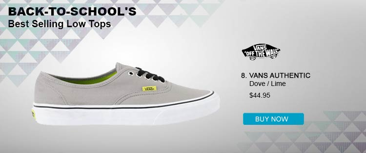 Vans Authentic Dove & Lime Shoe
